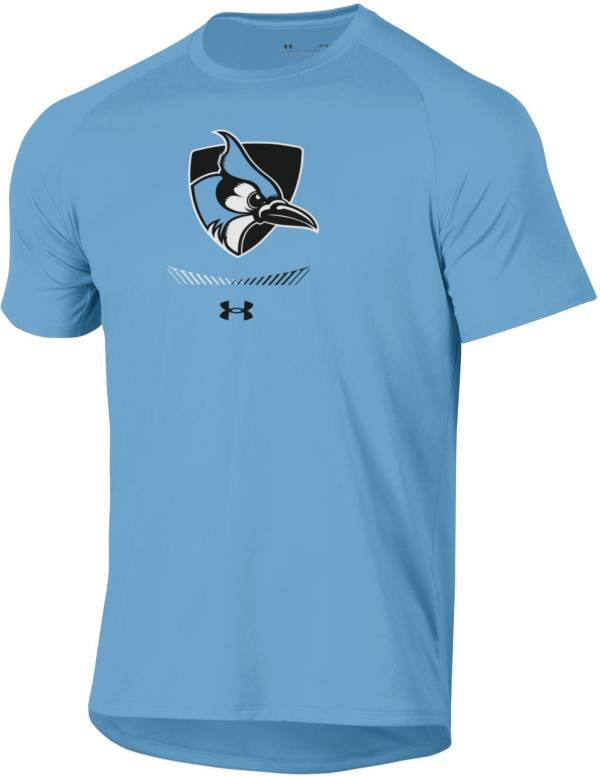 Under Armour Men's Johns Hopkins Blue Jays Columbia Blue Tech Performance T-Shirt product image