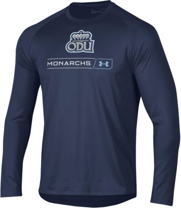 Under Armour Men's Old Dominion Monarchs Blue Long Sleeve Tech Performance T-Shirt product image