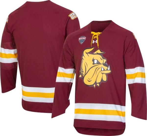 Under Armour Men's Minnesota-Duluth Bulldogs Maroon Hockey Jersey product image