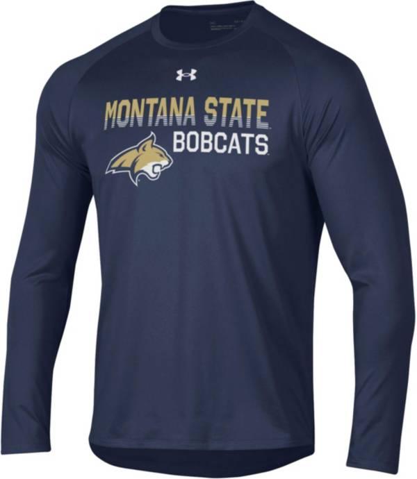 Under Armour Men's Montana State Bobcats Blue Long Sleeve Tech Performance T-Shirt product image