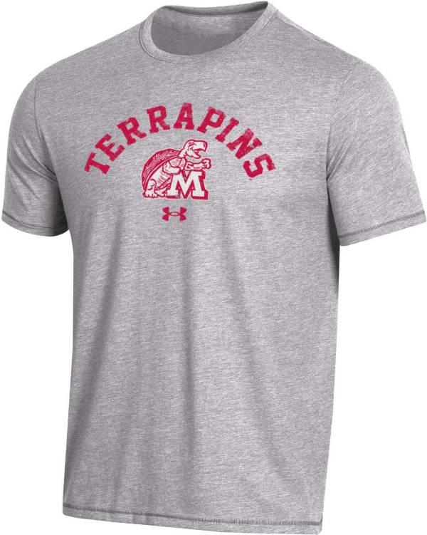 Under Armour Men's Maryland Terrapins Grey Bi-Blend Performance T-Shirt product image