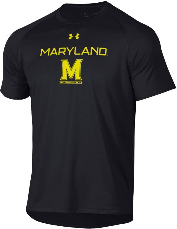 Under Armour Men's Maryland Terrapins Tech Performance Black T-Shirt product image