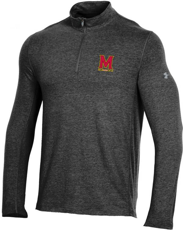 Under Armour Men's Maryland Terrapins Charged Cotton Quarter-Zip Black Shirt product image
