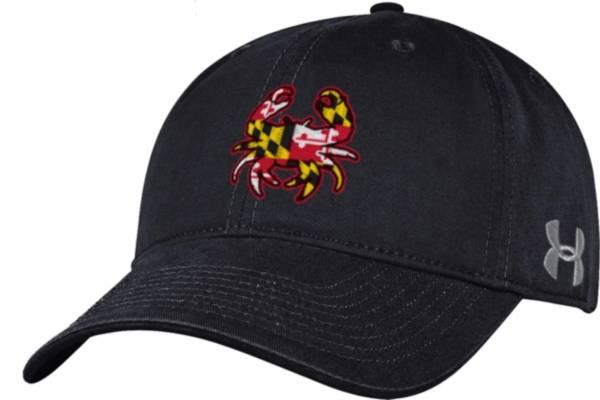Under Armour Men's Maryland Terrapins Black Adjustable Hat product image