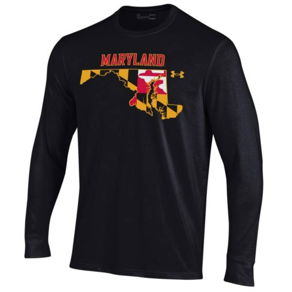 Under Armour Men's Maryland Terrapins Black Performance Long Sleeve T-Shirt product image