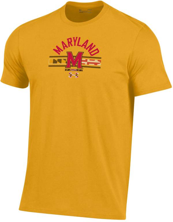 Under Armour Men's Maryland Terrapins Gold 'Maryland Pride' Performance Cotton T-Shirt product image