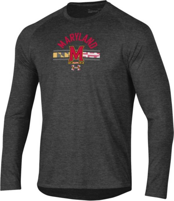 Under Armour Men's Maryland Terrapins Grey 'Maryland Pride' Long Sleeve Tech Performance T-Shirt product image