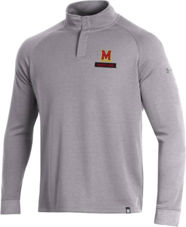 Under Armour Men's Maryland Terrapins Grey Quarter-Snap Shirt product image