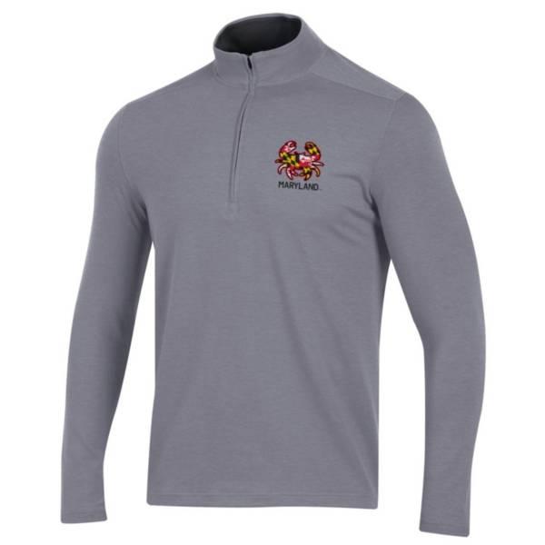 Under Armour Men's Maryland Terrapins Gray Long Sleeve Quarter-Zip Shirt product image