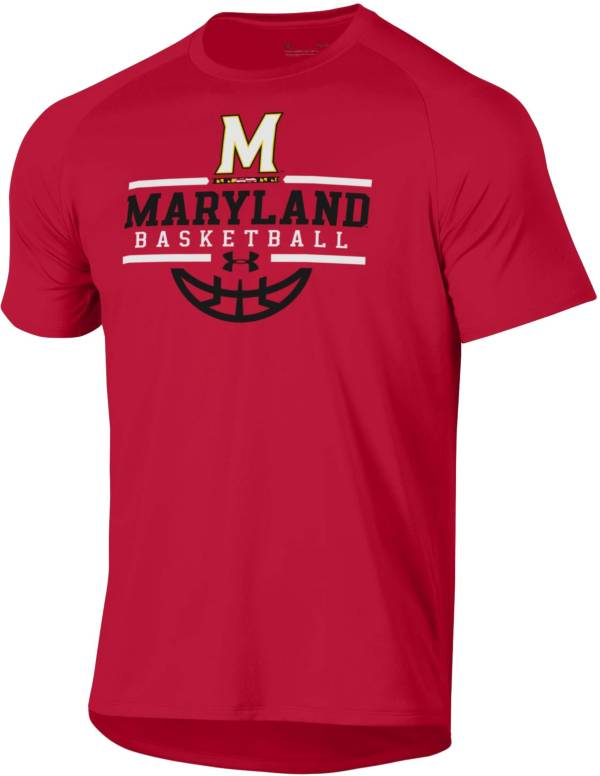 Under Armour Men's Maryland Terrapins Red Tech Performance Basketball T-Shirt product image