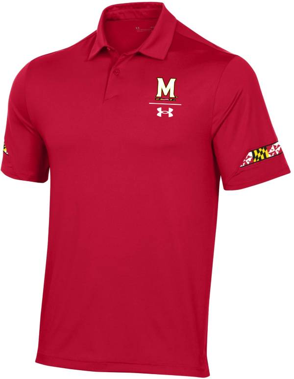 Under Armour Men's Maryland Terrapins Navy Coaches Sideline Polo product image