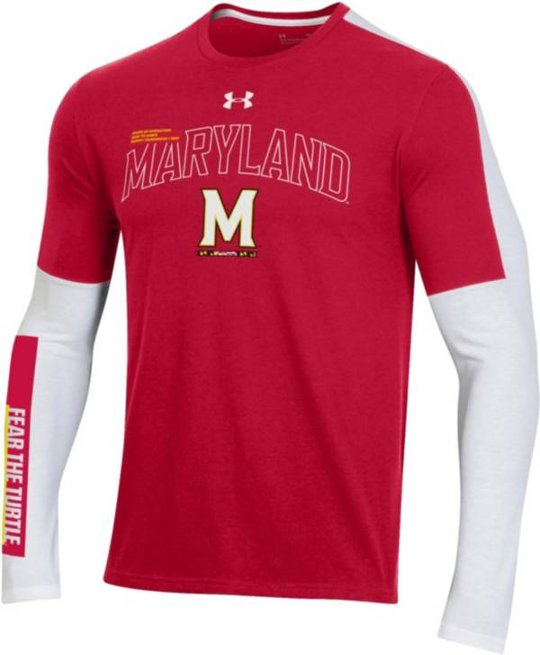 Under Armour Men's Maryland Terrapins Red Bench Long Sleeve T-Shirt product image