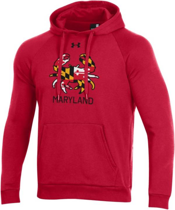 Under Armour Men's Maryland Terrapins Red 'Maryland Pride' All Day Pullover Hoodie product image