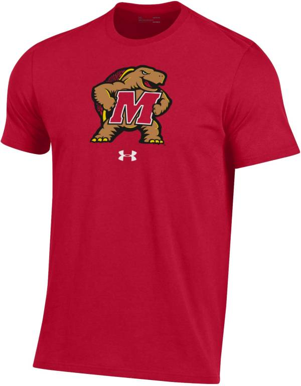 Under Armour Men's Maryland Terrapins Red Performance Cotton T-Shirt product image