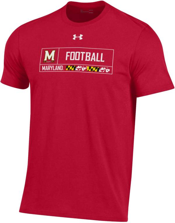 Under Armour Men's Maryland Terrapins Red Performance Cotton Football T-Shirt product image