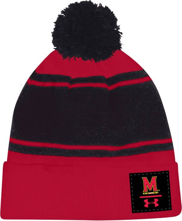 Under Armour Men's Maryland Terrapins Red Pom Knit Beanie product image