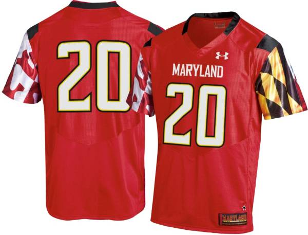 Under Armour Men's Maryland Terrapins #20 Red Replica Football Jersey product image