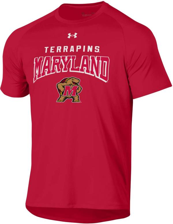 Under Armour Men's Maryland Terrapins Red Tech Performance T-Shirt product image