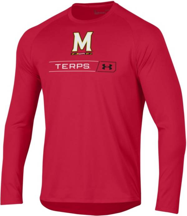 Under Armour Men's Maryland Terrapins Red Long Sleeve Tech Performance T-Shirt product image