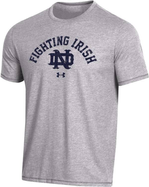 Under Armour Men's Notre Dame Fighting Irish Grey Bi-Blend Performance T-Shirt product image