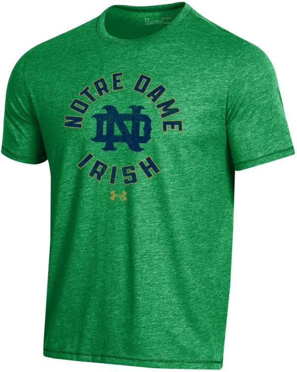 Under Armour Men's Notre Dame Fighting Irish Green Bi-Blend Performance T-Shirt product image