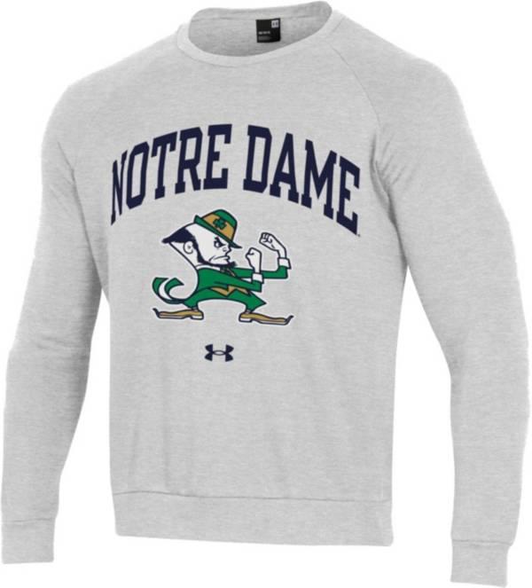 Under Armour Men's Notre Dame Fighting Irish Grey All Day Fleece Crew Sweatshirt product image
