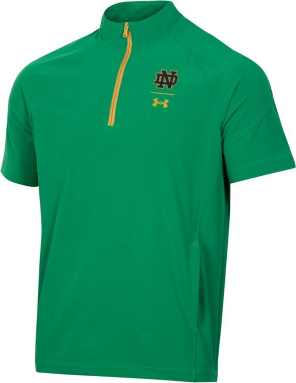 Under Armour Notre Dame Fighting Irish Green Coaches Short Sleeve Quarter-Zip Shirt product image