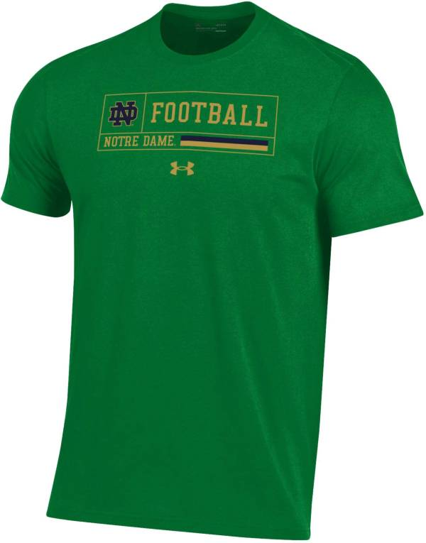 Under Armour Men's Notre Dame Fighting Irish Green Performance Cotton Football T-Shirt product image