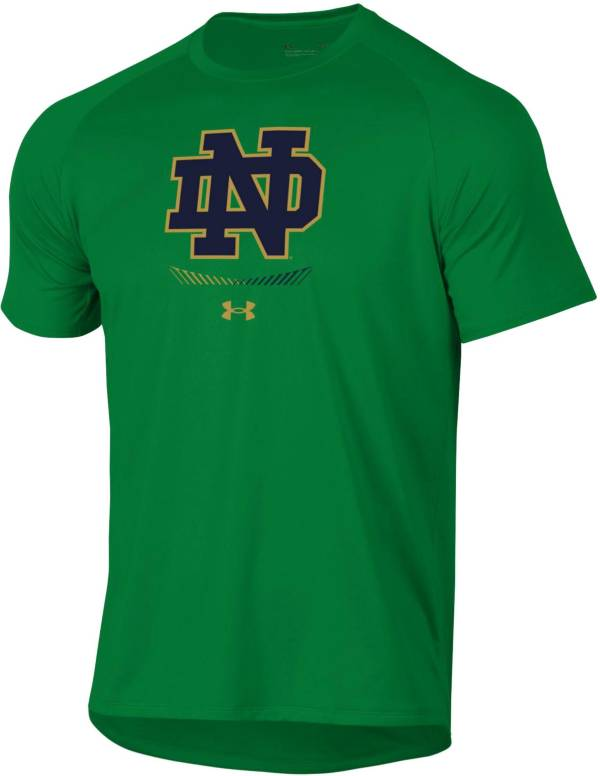 Under Armour Men's Notre Dame Fighting Irish Green Tech Performance T-Shirt product image