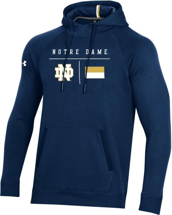 Under Armour Men's Notre Dame Fighting Irish Navy Campus Pullover Fleece Hoodie product image