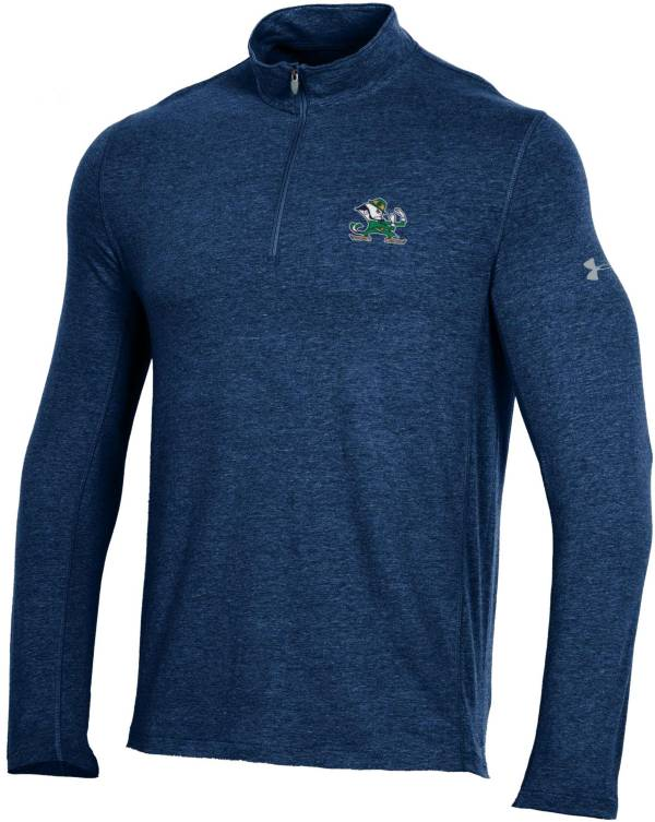 Under Armour Men's Notre Dame Fighting Irish Navy Charged Cotton Quarter-Zip Shirt product image