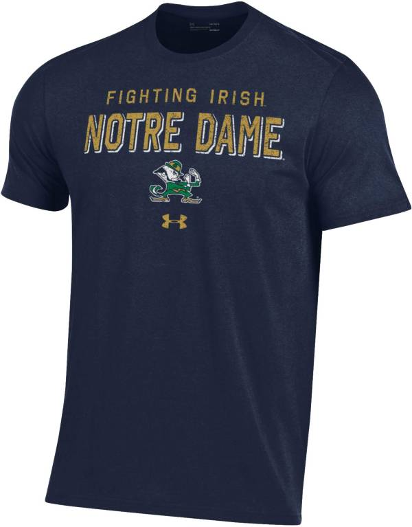 Under Armour Men's Notre Dame Fighting Irish Navy Performance Cotton T-Shirt product image