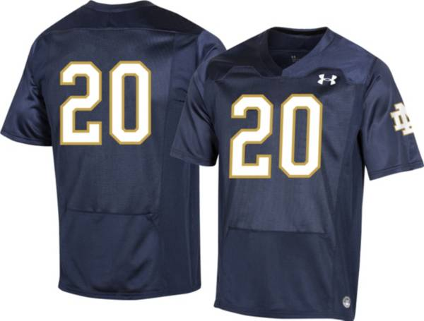 Under Armour Men's Notre Dame Fighting Irish #20 Navy Replica Football Jersey product image