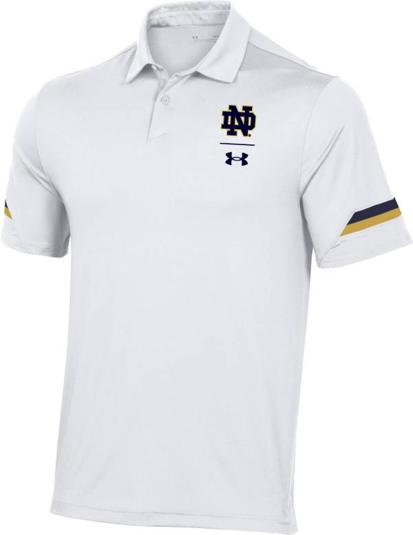 Under Armour Men's Notre Dame Fighting Irish White Coaches Sideline Polo product image