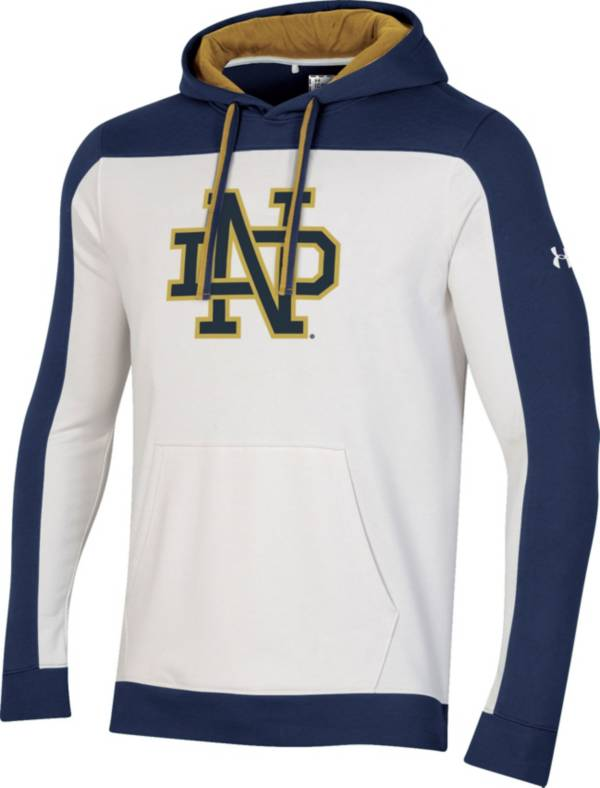 Under Armour Men's Notre Dame Fighting Irish Iconic Pullover White Hoodie product image
