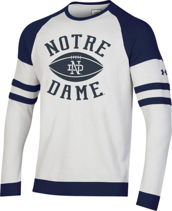 Under Armour Men's Notre Dame Fighting Irish Crew Pullover White Sweatshirt product image
