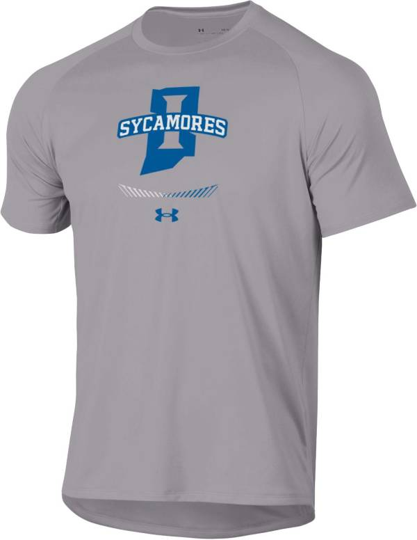 Under Armour Men's Indiana State Sycamores Grey Tech Performance T-Shirt product image