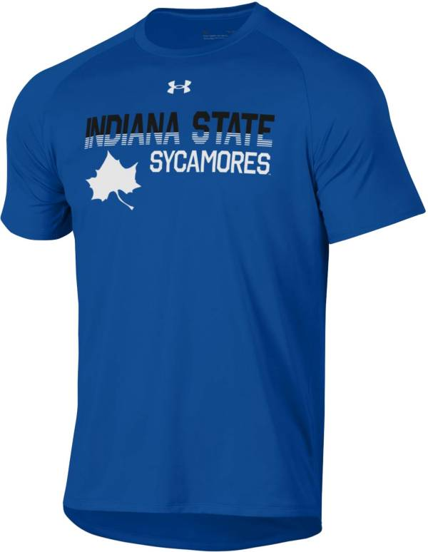 Under Armour Men's Indiana State Sycamores Sycamore Blue Tech Performance T-Shirt product image