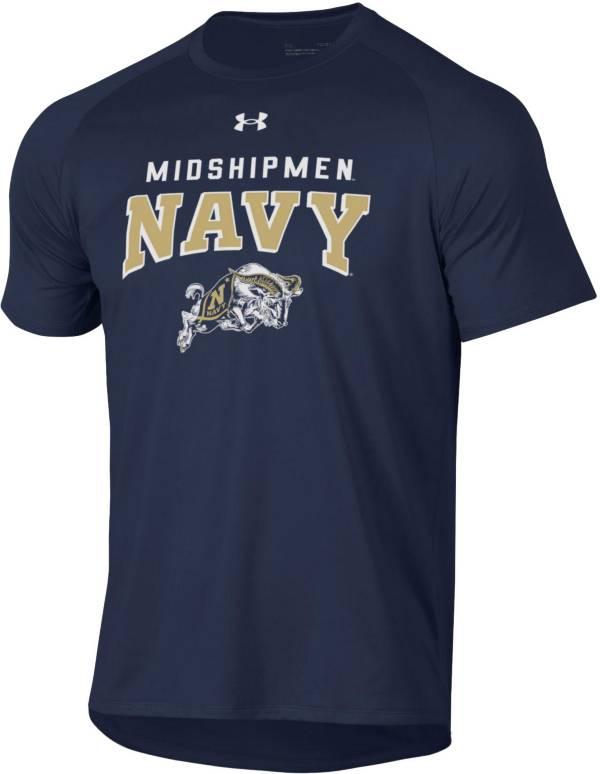 Under Armour Men's Navy Midshipmen Navy Tech Performance T-Shirt product image