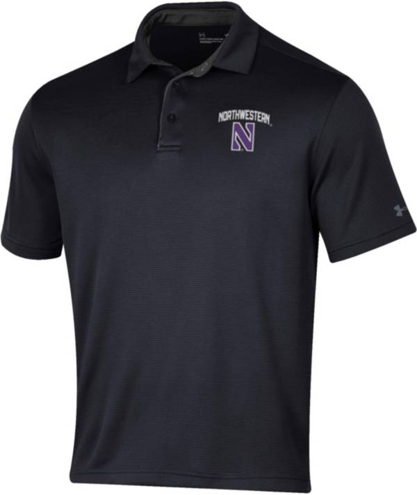 Under Armour Men's Northwestern Wildcats Tech Black Polo product image