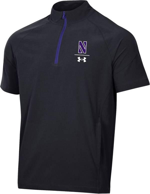 Under Armour Northwestern Wildcats Coaches Short Sleeve Quarter-Zip Black Shirt product image