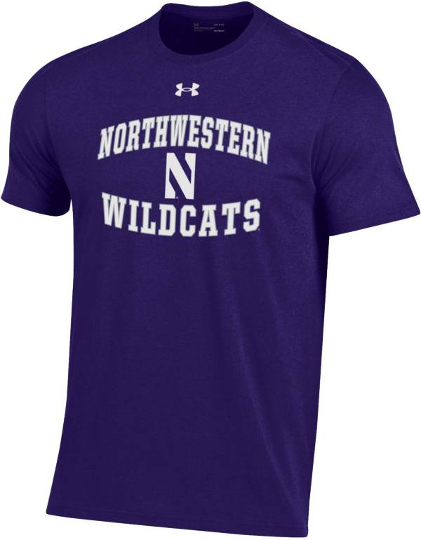 Under Armour Men's Northwestern Wildcats Purple Performance Cotton T-Shirt product image