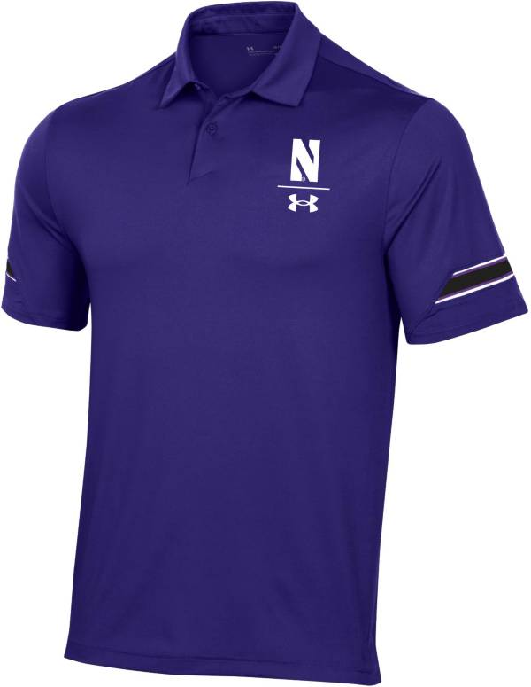 Under Armour Men's Northwestern Wildcats Purple Coaches Sideline Polo product image