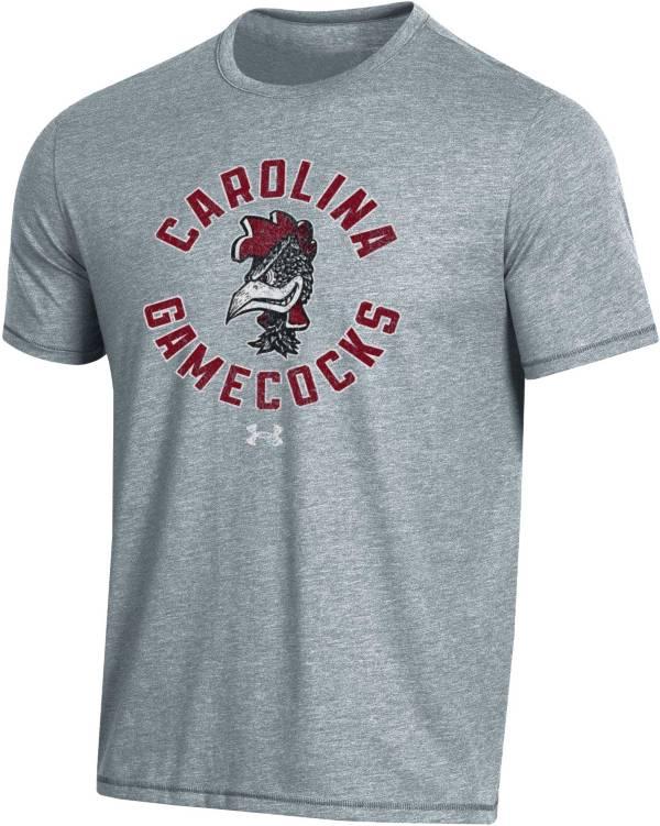 Under Armour Men's South Carolina Gamecocks Grey Bi-Blend Performance T-Shirt product image