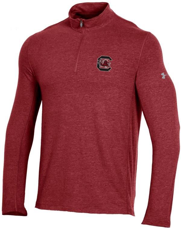 Under Armour Men's South Carolina Gamecocks Garnet Charged Cotton Quarter-Zip Shirt product image