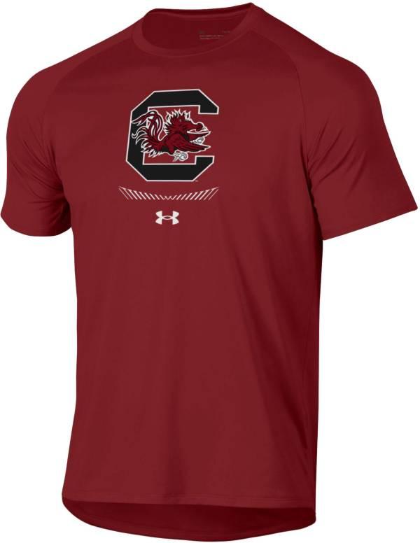Under Armour Men's South Carolina Gamecocks Garnet Tech Performance T-Shirt product image