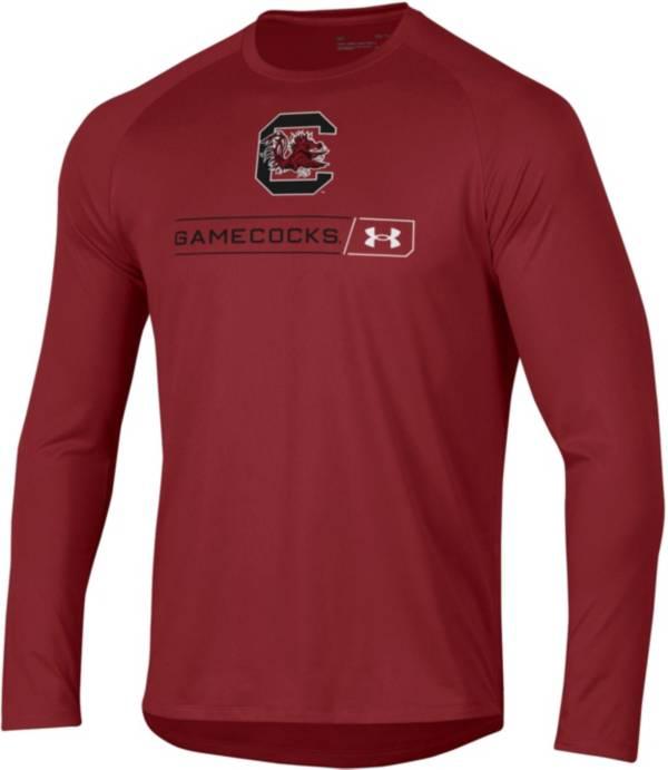 Under Armour Men's South Carolina Gamecocks Garnet Long Sleeve Tech Performance T-Shirt product image