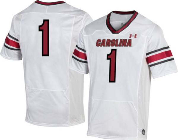 Under Armour Men's South Carolina Gamecocks #1 Replica Football White Jersey product image