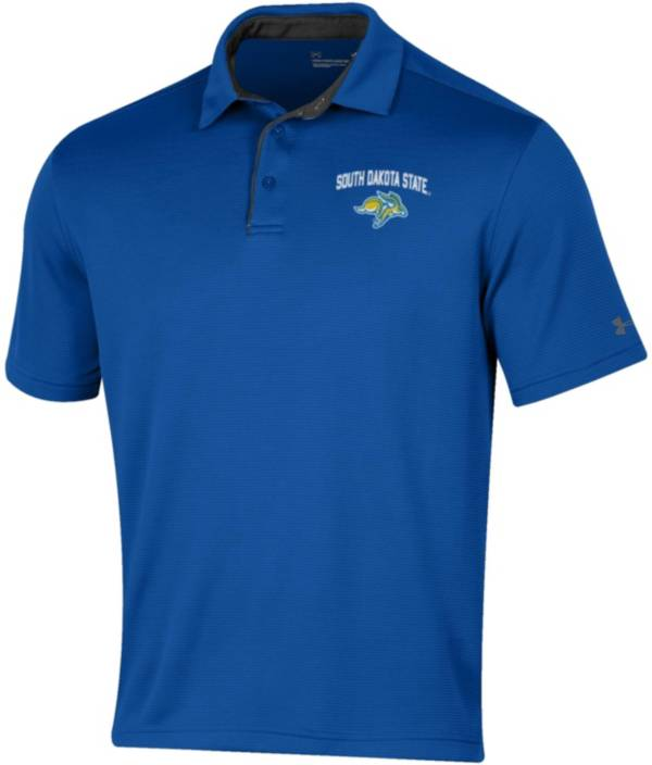 Under Armour Men's South Dakota State Jackrabbits Blue Tech Polo product image