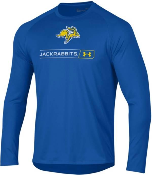 Under Armour Men's South Dakota State Jackrabbits Blue Long Sleeve Tech Performance T-Shirt product image